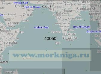 40060 Северная часть Индийского океана (Масштаб 1:5 000 000)