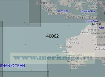 40062 Восточная часть Индийского океана (Масштаб 1:5 000 000)