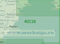 40118 Район к югу от Мозамбикского пролива (Масштаб 1:2 000 000)