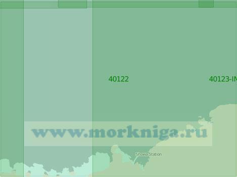 40122 Моря Рисер-Ларсена и Космонавтов (Масштаб 1:2 000 000)