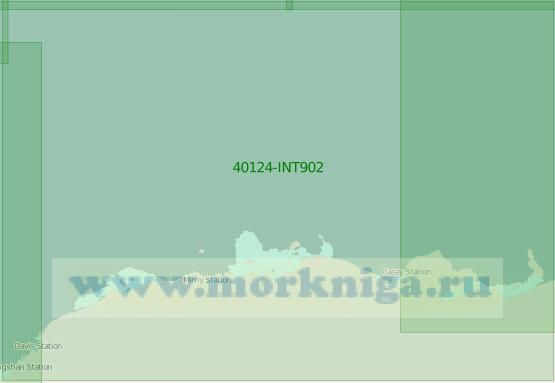 40124-INT902 Моря Моусона и Дейвиса (Масштаб 1:2 000 000)