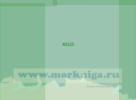 40125 От моря Д'Юрвиля до моря Моусона (Масштаб 1:2 000 000)