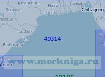 40314 От рейда Калингапатнам до порта Ситуэ (Акьяб) (Масштаб 1:1 000 000)