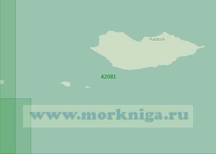 42081 От острова Абд-эль-Кури до острова Сокотра (Масштаб 1:250 000)