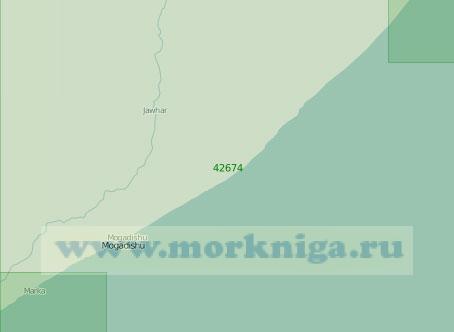 42674 От селения Эль-Мегет до города Марка (Масштаб 1:300 000)