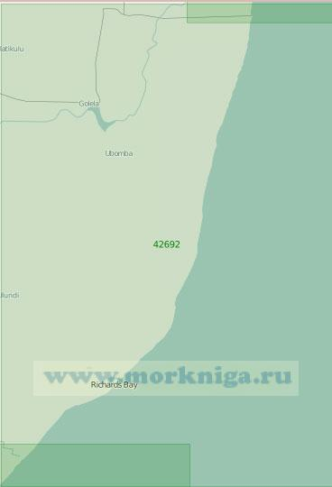 42692 От мыса Видал до реки Тугела (Масштаб 1:300 000)