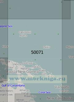 50071 От Марианских островов до островов Новые Гебриды (Масштаб 1:5 000 000)