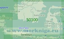 50100 Яванское море и Макасарский пролив (Масштаб 1:2 000 000)