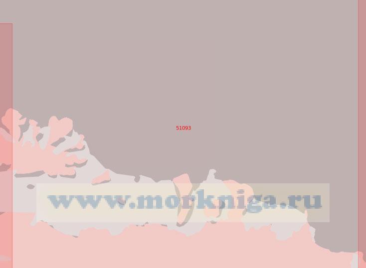 51093 От берега Брайана до полуострова Новилл (Масштаб 1:500 000)