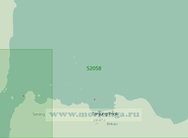 52058 От Зондского пролива до мыса Бобос (Масштаб 1:250 000)
