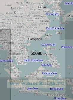 60090 Юго-западная часть Тихого океана (Масштаб 1:5 000 000)