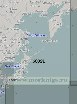 60091 Северо-западная часть Тихого океана (Масштаб 1:5 000 000)