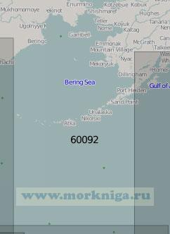 60092 Берингово море с прилегающей частью Тихого океана (Масштаб 1:5 000 000)