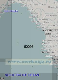 60093 Тихоокеанское побережье Северной Америки (Масштаб 1:5 000 000)