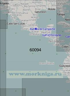 60094 Тихоокеанское побережье Центральной Америки (Масштаб 1:5 000 000)