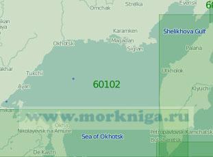 60102 Северная часть Охотского моря (Масштаб 1:2 000 000)