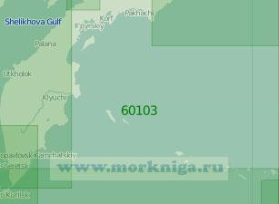 60103 Юго-западная часть Берингова моря (Масштаб 1:2 000 000)