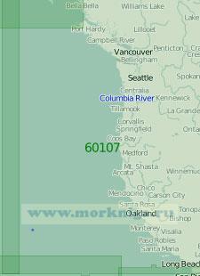 60107 От островов Королевы Шарлотты до порта Сан-Диего (Масштаб 1:2 000 000)