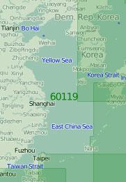 60119 Жёлтое и Восточно-Китайское моря (Масштаб 1:2 000 000)