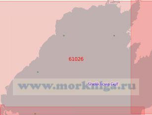 61026 Гижигинская губа (Масштаб 1:500 000)
