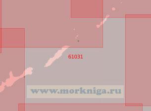 61031 От острова Итуруп до острова Симушир (Масштаб 1:500 000)
