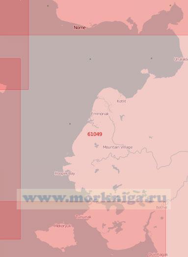 61049 От острова Нунивак (Открытие) до мыса Родни с заливом Нортон (Масштаб 1:500 000)