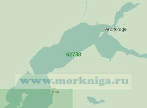62738 Северная часть залива Кука (Масштаб 1:200 000)