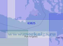 63825 Восточная часть пролива Хуан-де-Фука (Масштаб 1:100 000)