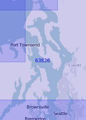 63826 Пролив Адмиралти и северная часть залива Пьюджет (Масштаб 1:100 000)