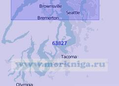 63827 Южная часть залива Пьюджет (Масштаб 1:100 000)