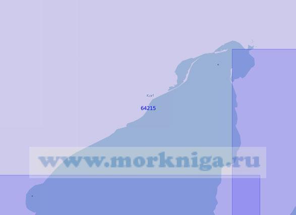 64215 Северная часть залива Корфа (Масштаб 1:100 000)