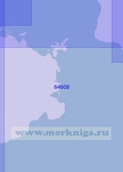 64608 Восточная часть острова Бохоль и пролив Канигао (Масштаб 1:100 000)