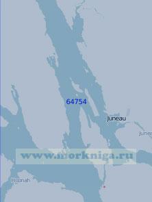 64754 Южная часть залива Линн-Канал (Масштаб 1:100 000)