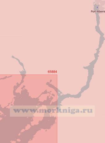 65884 Порт-Албёрни с подходами (Масштаб 1:50 000)