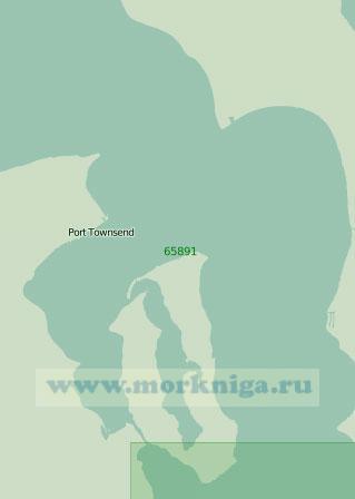 65891 Пролив Адмиралти. Бухта Порт - Таунсенд (Масштаб 1: 25 000)