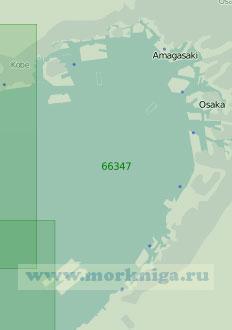66347 Подходы к портам Кобе и Осака (Масштаб 1:45 000)