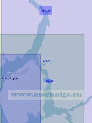 68823 Бухта Принс-Руперт и бассейн Морс (Масштаб 1:20 000)