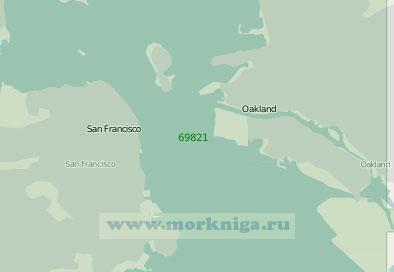69821 Порты Сан-Франциско и Окленд (Масштаб 1:25 000)