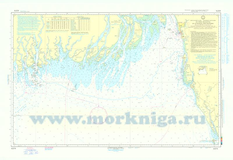 42278 От реки Маланча до островов Сент-Мартинс (Масштаб 1:300 000)