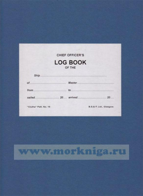 Chief Officers Log Book (3 month)
