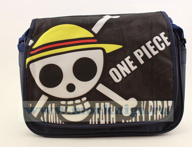 Сумка пиратская с черепом и костями (синяя)