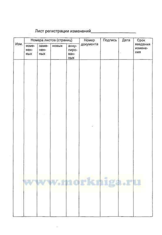 Лист регистрации изменений