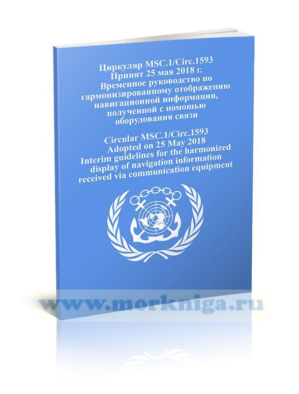 Циркуляр MSC.1/Circ.1593 Временное руководство по гармонизированному отображению навигационной информации, полученной с помощью оборудования связи