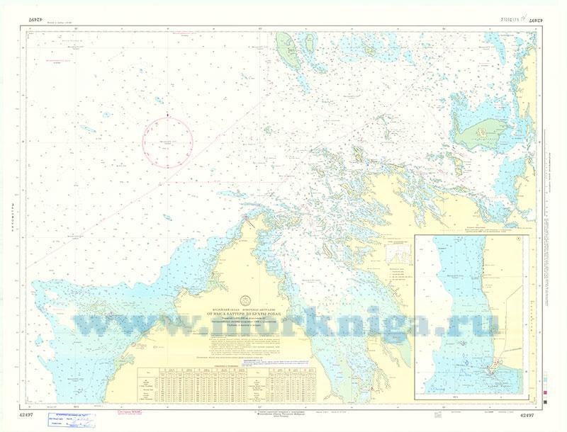 42497 От мыса Баттери до бухты Робак (Масштаб 1:300 000)