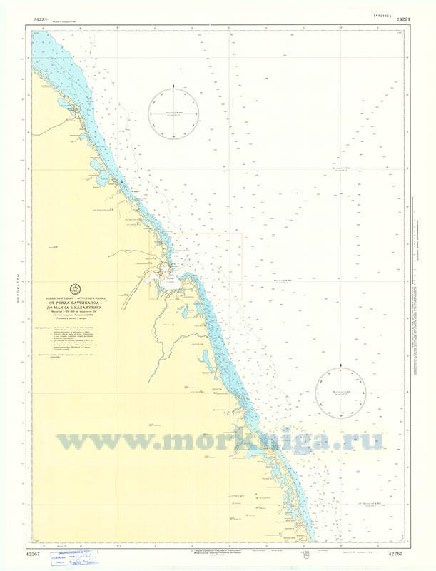 42267 От рейда Баттикалоа до маяка Муллайттиву (Масштаб 1:250 000)