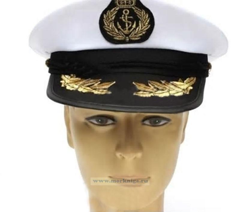 """Капитанка """"Королевский флот"""" с козырком с вышитыми дубами"""