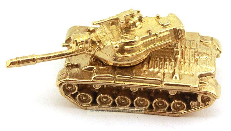 Модель танка из латуни (иностранного производства)