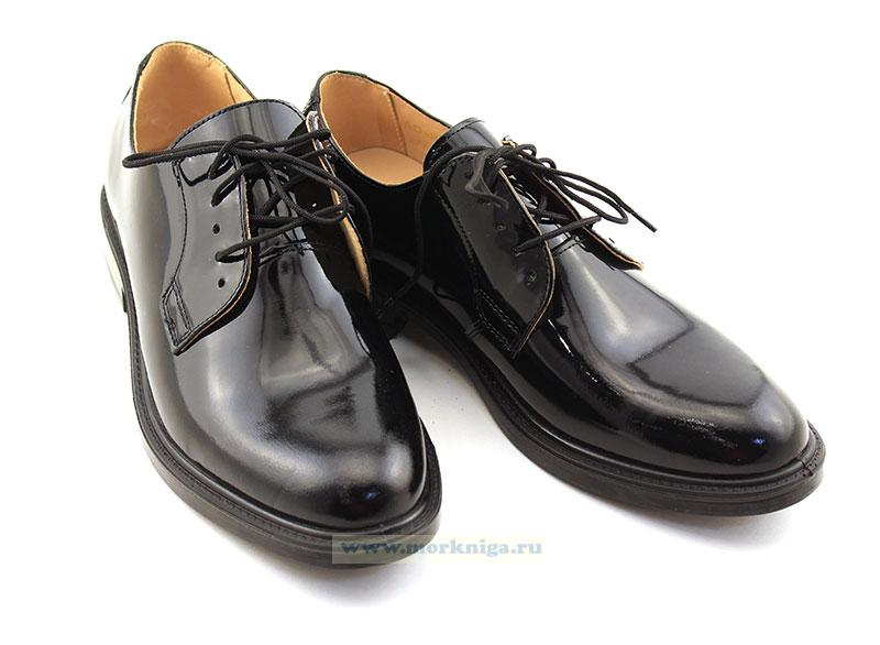 Полуботинки для военнослужащих форменные мужские лакированные на шнурках уставные