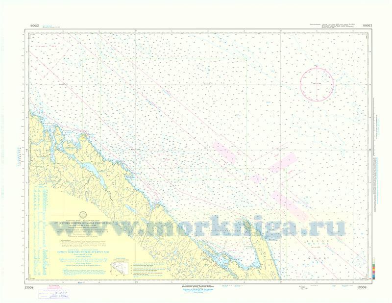 13008 От острова Нокуев до мыса Святой Нос (Масштаб 1:100 000)