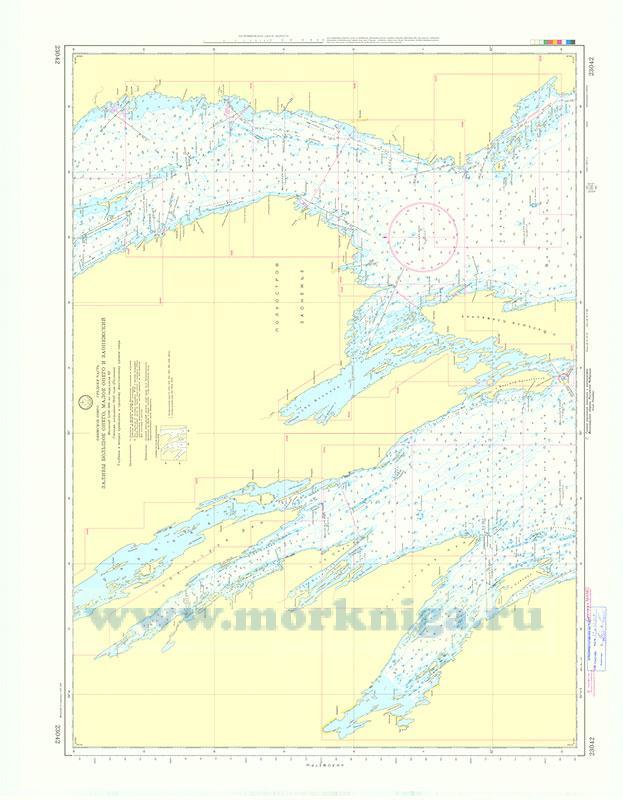 23042 Заливы Большое Онего, Малое Онего и Заонежский (Масштаб 1:100 000)